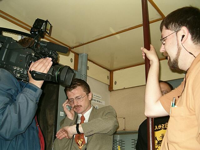 Zjazd Kaszubów w Kościerzynie. Dziennikarze przy pracy (3410)