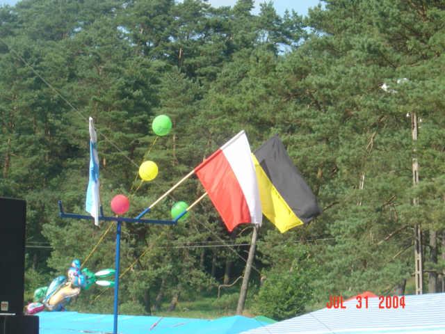 Żukowo 31.07.2004. Scena nad Jeziorkiem
