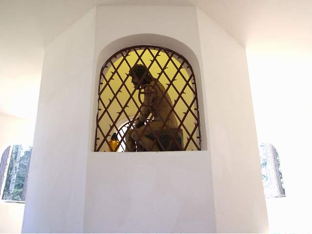 Rzeźba Pana Jezusa w domu Kajfasza