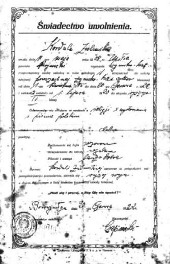 Dokumenty z lat 1920 - tych