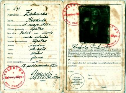 Dokument osobisty z 1929 roku