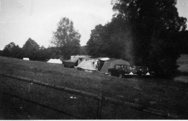 Pole namiotowe na łące pp. Włodarczyków