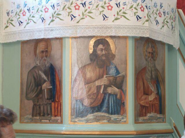 Sianowo - Ewangeliści na ambonie