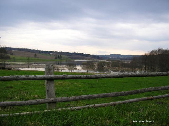 Mirachowo-widok na jezioro