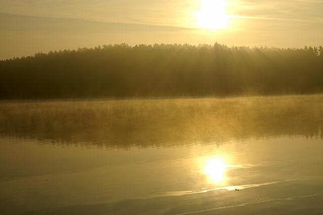 Studzienice - jezioro o poranku-03