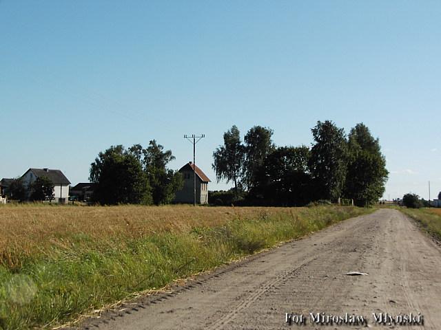 Stacja Nowa Wieś (Kościerska) Widok od Gołubia
