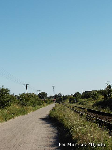 Widok na Koscierzynę z starej linni kolejowej Kościerzyna-Gołubie