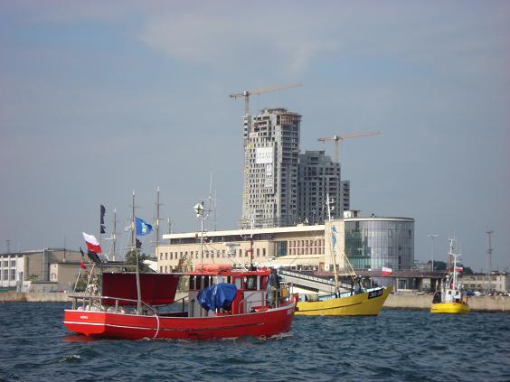 STRAJK RYBAKÓW -Gdynia port-