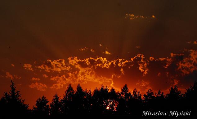 Kościerzyna Zachód słońca