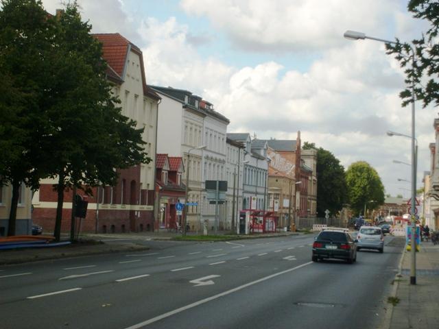 Gryfia/Greifswald - Banhofstrase na której pod nr 57 mieszkał A. Majkowski