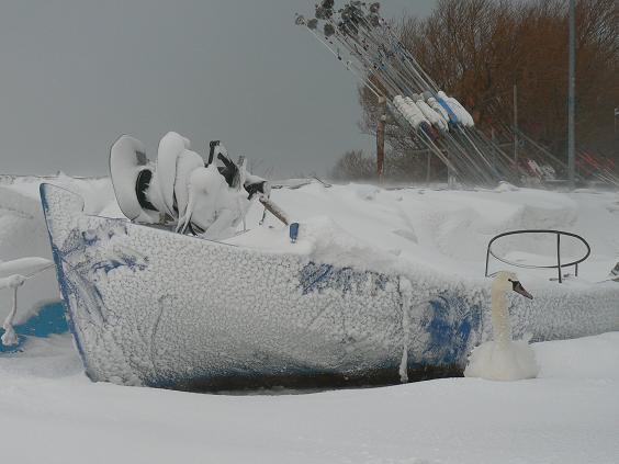 Port w Kuźnicy zima  2010