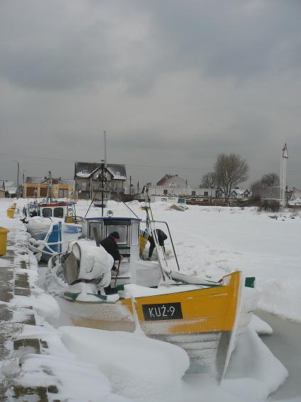 Port w Kuźnicy zimą 2010