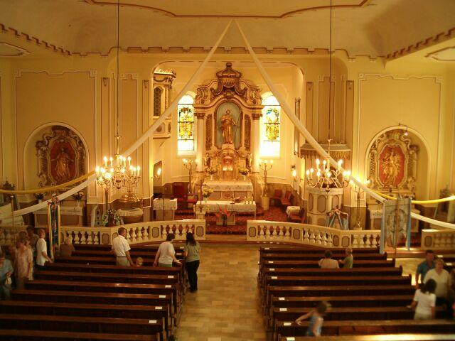 Wygoda - wnętrze kościoła