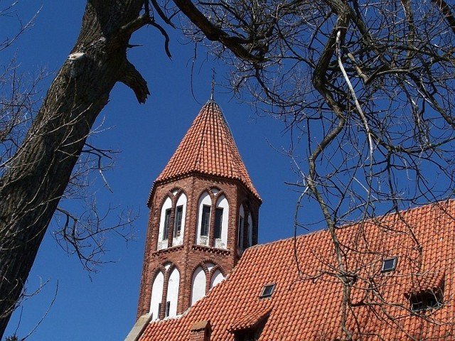 Stężyca, neogotycki kościół