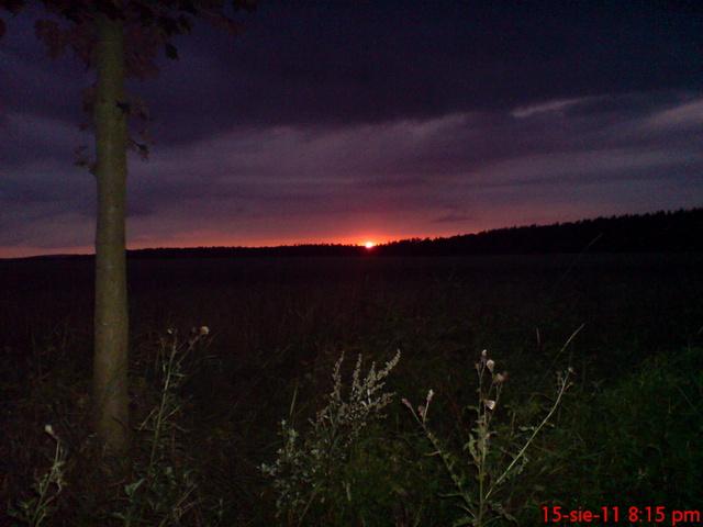 Zachód słońca na szlaku KA