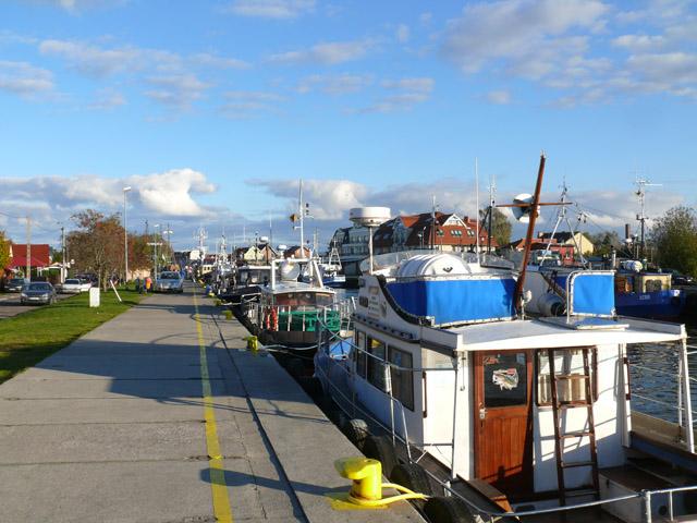 Port u ujścia Chełstu do Łeby