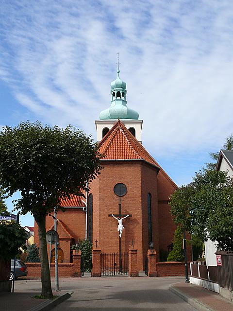 Neobarokowy kościół Nawiedzenia NMP w Jastarni