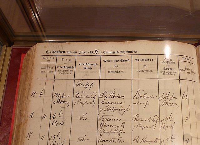 Księga zmarłych parafii w Przysiersku