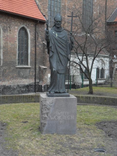 Gdóńskò-Przedmieszczé. Pòmnik sw. Wòjcecha - patrona Pòmòrzczi