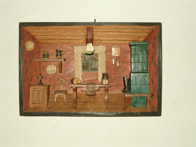 Płaskorzeźba - wnętrze chaty rybackiej (2614)