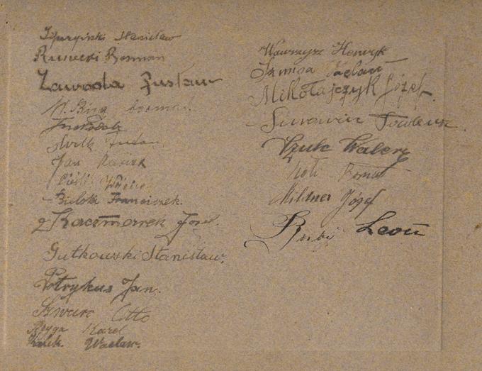 Orkiestra Komendy Portu Wojennego Puck, podpisy