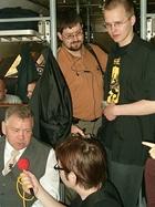 Zjazd Kaszubów w Kościerzynie. Dziennikarze przy pracy (3405)