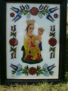 Dary - obraz MB Sianowskiej na szkle Chmielno