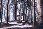 Kartuzy - Góra czarownic z odbudowaną z ruin kaplicą św.Krzyża