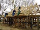 Kluki - budowa chaty (2)
