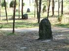 Węsiory - kamień z zarysem krzyża 1