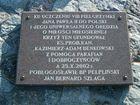Złota góra - krzyż tablica pamiątkowa