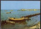 Stara pocztówka łodzi rybackej w Kuźnicy