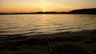 Zachód słońca nad jeziorem Kiedrowickim