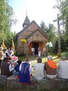 XVIII-wieczny kościół z Tyłowa przeniesiony w l. 2002-2003 do Lizaków