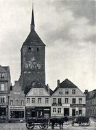 Sławno - rynek i kościół Mariacki